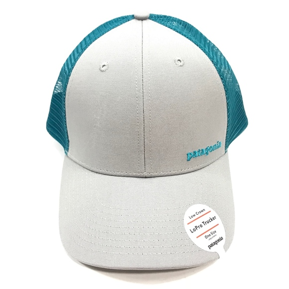d1ff9f966cc Patagonia Small Text Logo LoPro Trucker Hat - Gray